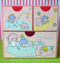 My treasures box--Vintage 1976 Sanrio / Little Twin Stars / Pink Drawer /Jewerly Box by HarapekoDoggyBag, via Flickr