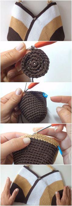 Crochet Beautiful Beach Bag #crochetbags