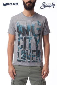 GAS JEANS SCUBA/S   T-shirt a manica corta 100% morbido cotone, scollo tondo, stampa frontale con scritta.  composizione: 100% cotone  #NEWARRIVALS #SCUBA/S #GASJEANS #SPRING2015 #SIMPLYCLOTHING #MONZA