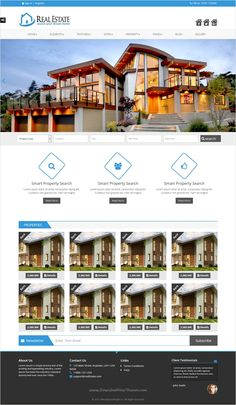 RealEstate is creative Bootstrap #HTML template perfect for #property, real estate #listing professional website download now➩ https://themeforest.net/item/real-estate-html-templete/17324639?ref=Datasata