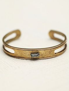 Free People Vintage Deco Hammered Cuff