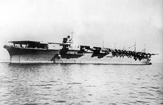 The Japanese aircraft carrier Zuikaku, seen in September of 1941. The Zuikaku would soon sail toward Hawaii, one of six aircraft carriers used in the attack by the imperial Japanese Navy...