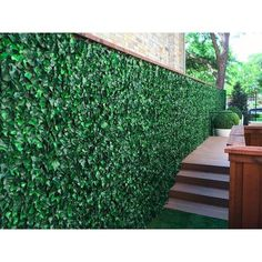 H x 2 ft. W Artificial Ivy Fence Panel GreenSmart Dekor 2 ft. H x 2 ft. W Artificial Ivy Fence Ivy Wall, Green Fence, Tabletop Fountain, Ivy Plants, Covered Pergola, Fence Panels, Artificial Plants, Artificial Turf, Artificial Green Wall
