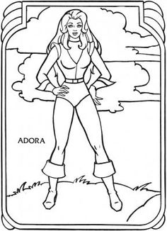 Who's Who Book Golden Coloring & Activity Books 1985 - Page 4 - Adora