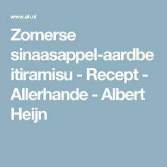 Zomerse sinaasappel-aardbeitiramisu - Recept - Allerhande - Albert Heijn