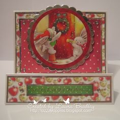 Bebunni from Crafter's Companion: Bebunni #Christmas 6x6 papers, Topper from topper sheet, Sentiment from topper sheet