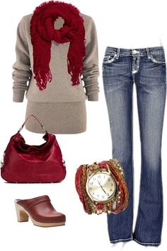 """Red!"" by daleb1962 on Polyvore"