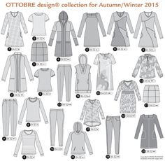 Ottobre Woman Fall Winter 2015 Issue - SewBaby News Diy Clothing, Sewing Clothes, Coin Couture, Fans, Like A Cat, Deep Teal, Fall Winter 2015, Work Wardrobe, Machine Embroidery Designs