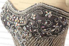 Formal evening women dresshandmade beading by customdress1900