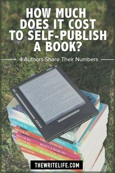 Much Does It Cost to Self-Publish a Book? 4 Authors Share Their Numbers Here's the breakdown of costs for four successful self-published authors.Here's the breakdown of costs for four successful self-published authors. Book Writing Tips, Writing Resources, Writing Prompts, Writing Ideas, Writing Jobs, Start Writing, Cover Design, Book Design, Layout Design