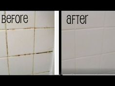Easy Grout bathtub cleaning tip!- Mamiposa26 - YouTube