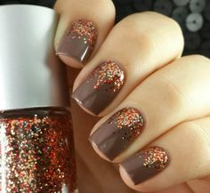 Glam up your manicure with sparkle nail polish.