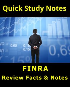 280+ Quick Review Facts for the FINRA Series 6 Exam #FINRA #stockmarket #education #finance #testprep #studyaids #CPA #stocks #NASDAQ #NYSE Series 7 Exam, Test Prep, Study Notes, How To Get Money, Stock Market, Improve Yourself, The 100, Finance, Facts