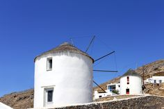 Serifos main town - traditional mill - Greek islands