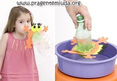 bolha de sabão de garrafa pet