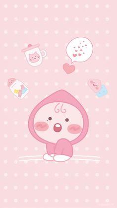 Apeach Kakao, Little Peach, Kakao Friends, Friends Wallpaper, My Melody, Pretty Art, Lock Screen Wallpaper, Cute Wallpapers, Hello Kitty