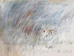 Cy Twombly.Untitled 1972. / Oil based house paint, wax crayon and lead pencil on canvas