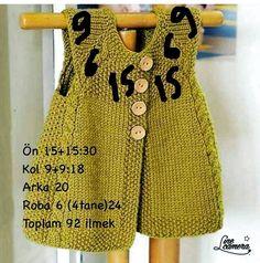 Diy Crafts - new-season-spring-bebe-vest Knitting For Kids, Baby Knitting Patterns, Baby Patterns, Hand Knitting, Knitting Ideas, Knitted Baby Cardigan, Baby Pullover, Quick Knits, Vest Pattern