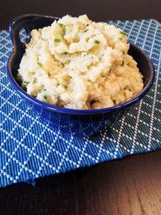 Cauliflower Mashed Potatoes with Roasted Garlic