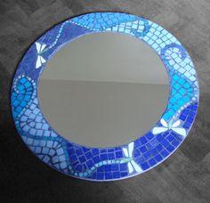Resultado de imagen para espejos redondos con mosaicos