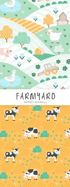 wendy kendall designs – freelance surface pattern designer » farmyard