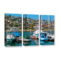 Point Loma, San Diego by George Zucconi 3 Piece Gallery-Wrapped Canvas Set