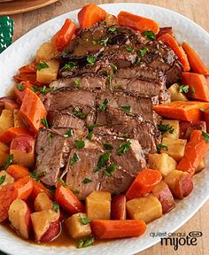 Let the family enjoy a wonderful Pot Roast with Potatoes & Carrots tonight! Our beef pot roast with potatoes is a great entrée choice for a cool evening. Beef Pot Roast, Beef Gravy, Pot Roast Recipes, Carrot Recipes, Beef Recipes, Cooking Recipes, Healthy Recipes, What's Cooking, Recipies