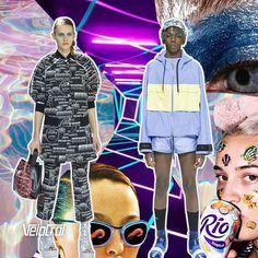 A Kenzo aproveitou seu desfile na Semana de Moda Masculina de Paris para apresentar também os looks de Resort 2017. Com os olhares voltados para a cena clubber dos anos 90, a coleção ganhou estampas marcantes em looks esportivos. #velotrol #velotroldesign#kenzo#estampas #print #estampariadigital #estampaexclusiva #surfacedesgin #design #ilustracao #moda #fashion #vestuario