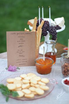 Thanksgiving idea | set up an hors d'oeuvres bar a beautiful cheese plate that doubles as decor