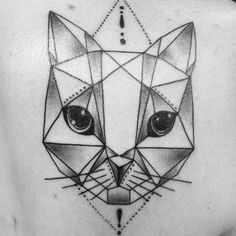 Geometric cat by @nate_k_tattooer on @tabichaaaaa #blackworkers #catlove #geometric #geometrictattoo #tattoo #ink #goldcoast #surfersparadise #meow