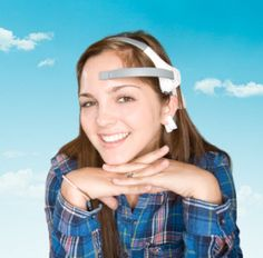 """NeuroSky MindWave headset - measures brainwave impulses from the forehead. Neurosky """"brings the human mind into toys, games, sports, education, medicine, and automobiles."""" http://www.neurosky.com"""