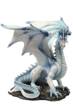 NEW! White Dragon Sitting Up Sculpture Figure | eBay