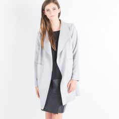 Modern Citizen  |  Amber Vegan Suede Pocket Coat (Light Grey) $110
