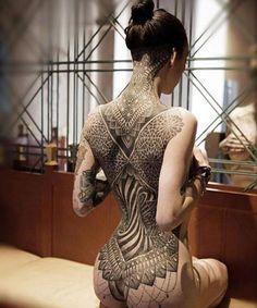 Whole back tattoo