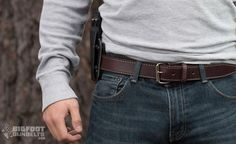 The best gun belts have reinforced cores, but none are as strong as spring steel, like the leather gun belt by Bigfoot Gun Belts. Read on for more… Open Carry, Carry On, Iwb Holster, 357 Magnum, Spring Steel, Concealed Carry, Hand Guns, How To Make, How To Wear