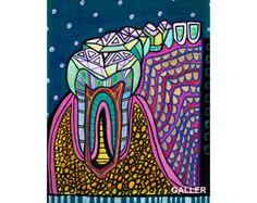 50% de descuento diente surrealista arte Art por HeatherGallerArt