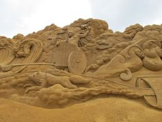 Sand sculpture in Soendervig