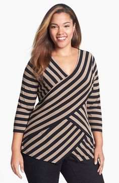 Vince Camuto Tiered Stripe Top (Plus Size) available at  Nordstrom Curvy  Girl Fashion 993a1e69b91f
