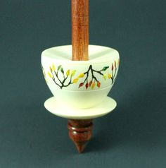 Teacup spindle in holly and bloodwood / Woodland Woodworking