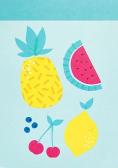 Bring a stylish touch to your letters and notes with this gorgeous Printed Notepad featuring 20 unique designs. The size is the perfect fit for your large kikki.K Planner, making it great for customised inserts, DIY tabs and paper craft ideas. Fruit Illustration, Pattern Illustration, Food Illustrations, Food Patterns, Print Patterns, Fruit Painting, Fruit Pattern, Surface Pattern, Pattern Design