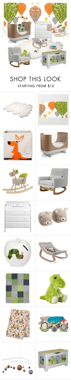 """""""Nursery"""" by jacobandcharlies ❤ liked on Polyvore featuring interior, interiors, interior design, home, home decor, interior decorating, UGG Australia, 3 Sprouts, Dot & Bo and Nursery Works"""