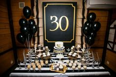 Awesome birthday party decorations ideas that make feel special 20 Related 30th Party, Gold Birthday Party, 30th Birthday Parties, 32 Birthday, Birthday Gifts, Diy 30th Birthday Decorations, 40th Birthday Ideas For Men Husband, Black And White Party Decorations, Champagne Party