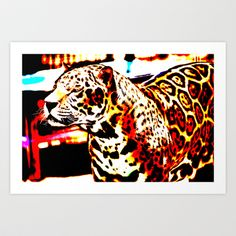 Abstract Leopard Art Print by Lon Casler Bixby - $16.00 – Fine Art Prints, greeting cards, t-shirts, cell phone cases, & more.