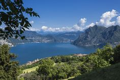 Iseo Lake from Madonna Della Neve Sanctuary, Lombardy_ Italy