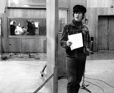 John during the recording of Rubber Soul