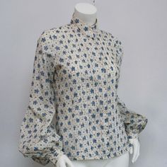70's LAURA ASHLEY Floral Balloon Sleeve Blouse by nicolasvintage