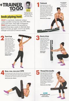 Michael Strahan's favorite trainer Latreal Mitchell demonstrates how to use ViPR in Self magazine.