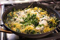 Spaghetti Squash and Chard Sauté ~ Spaghetti squash, first baked ...