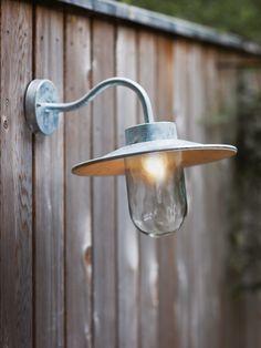 Creating The Perfect Outdoor Lighting - Galvanised Swan Neck Light