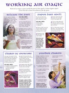 Magick Spells:  #BOS Working #Air #Magic page.